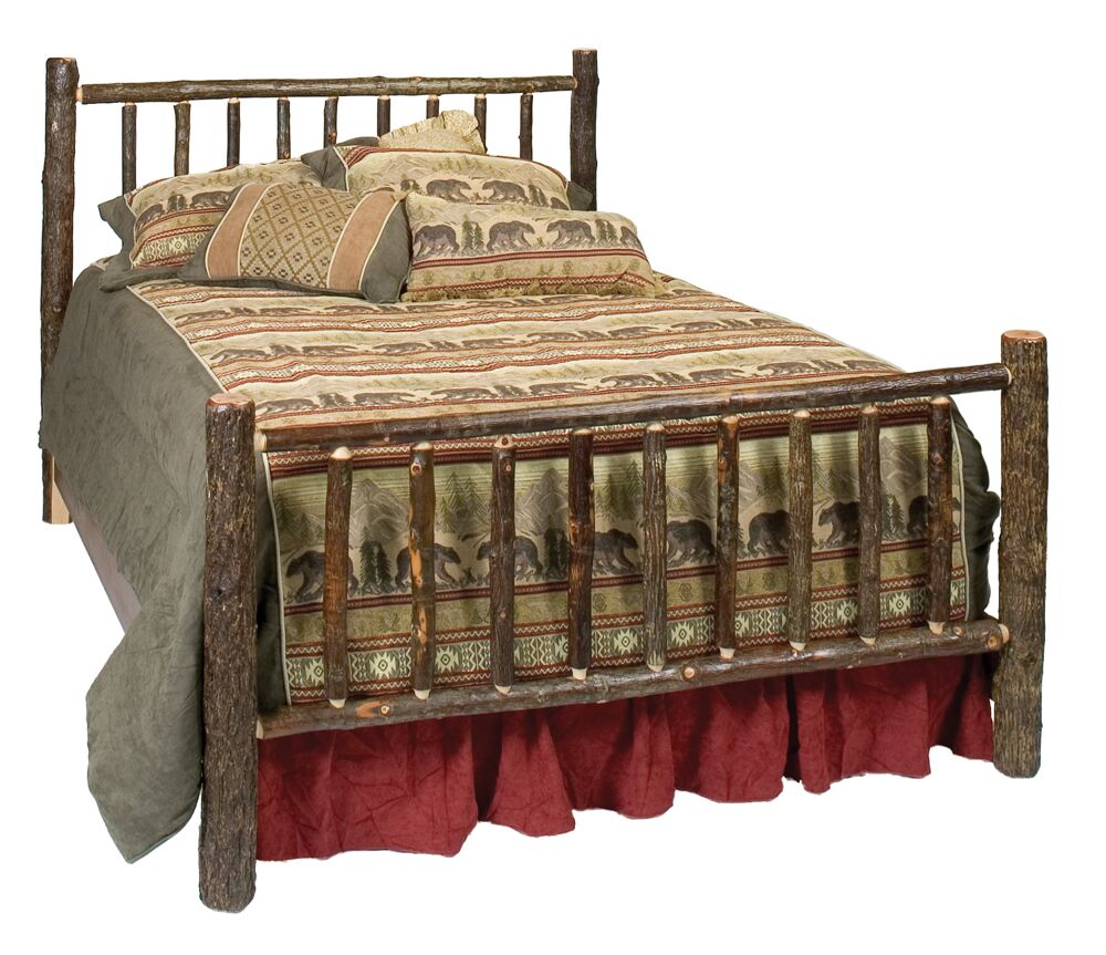 Hickory Panel Bed Size: California King, Color: Traditional