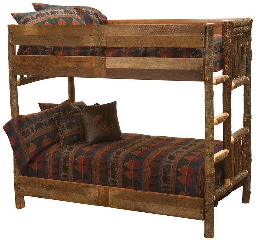 Hickory Panel Bed Size: Single/Single Ladder Right
