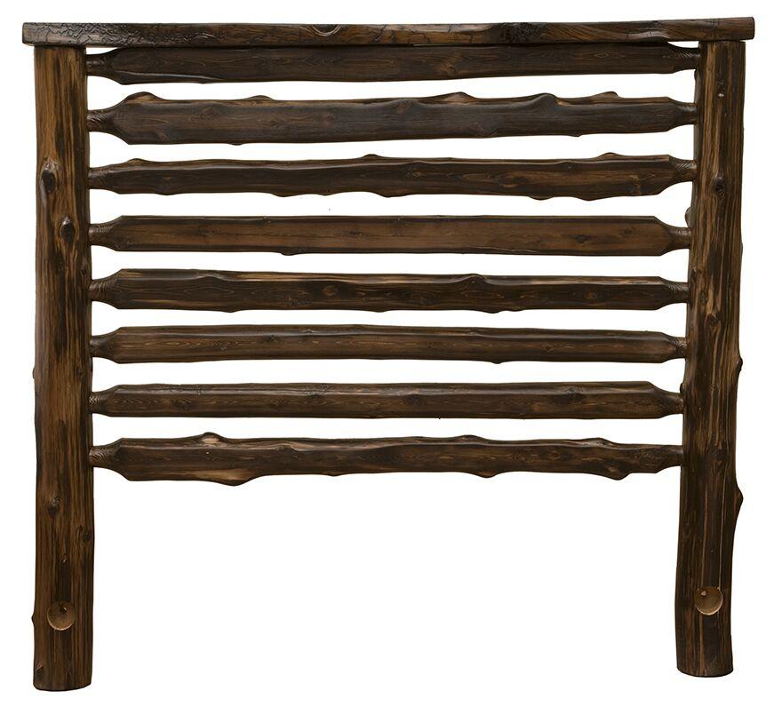 Modern Cedar Log Slat Headboard Size: California King