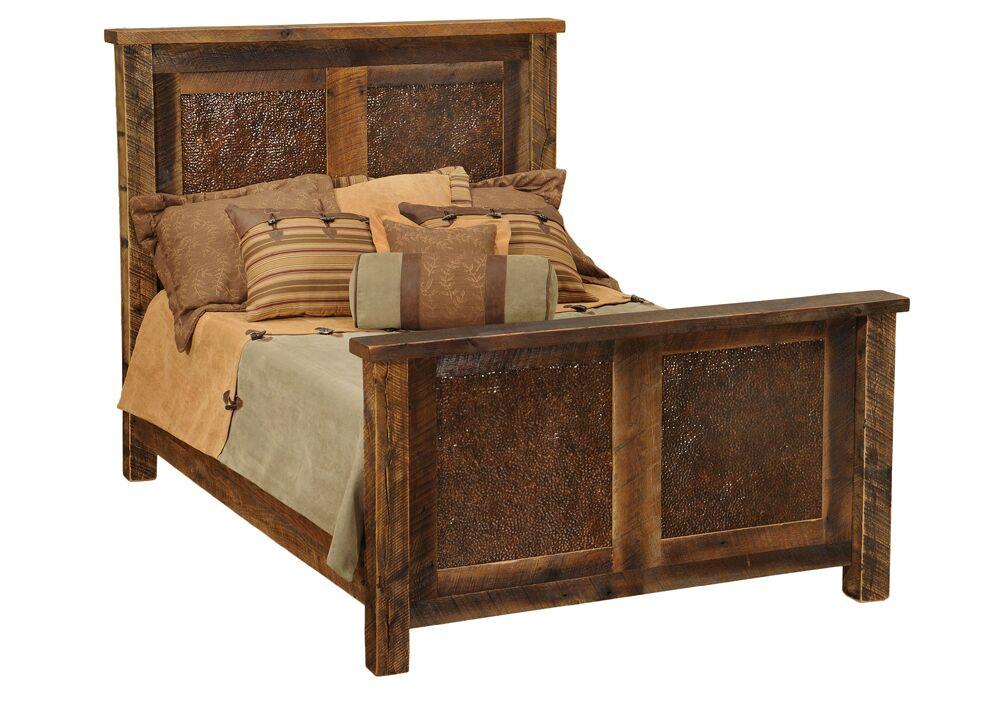 Barnwood Panel Bed Size: King