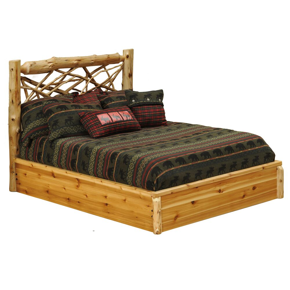 Cedar Platform Bed Color: Traditional Cedar, Size: Twin