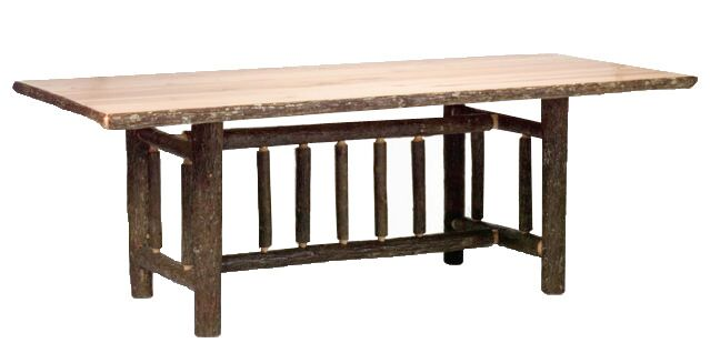 Hickory Rectangle Dining Table Finish: Traditional with Standard, Size: 60
