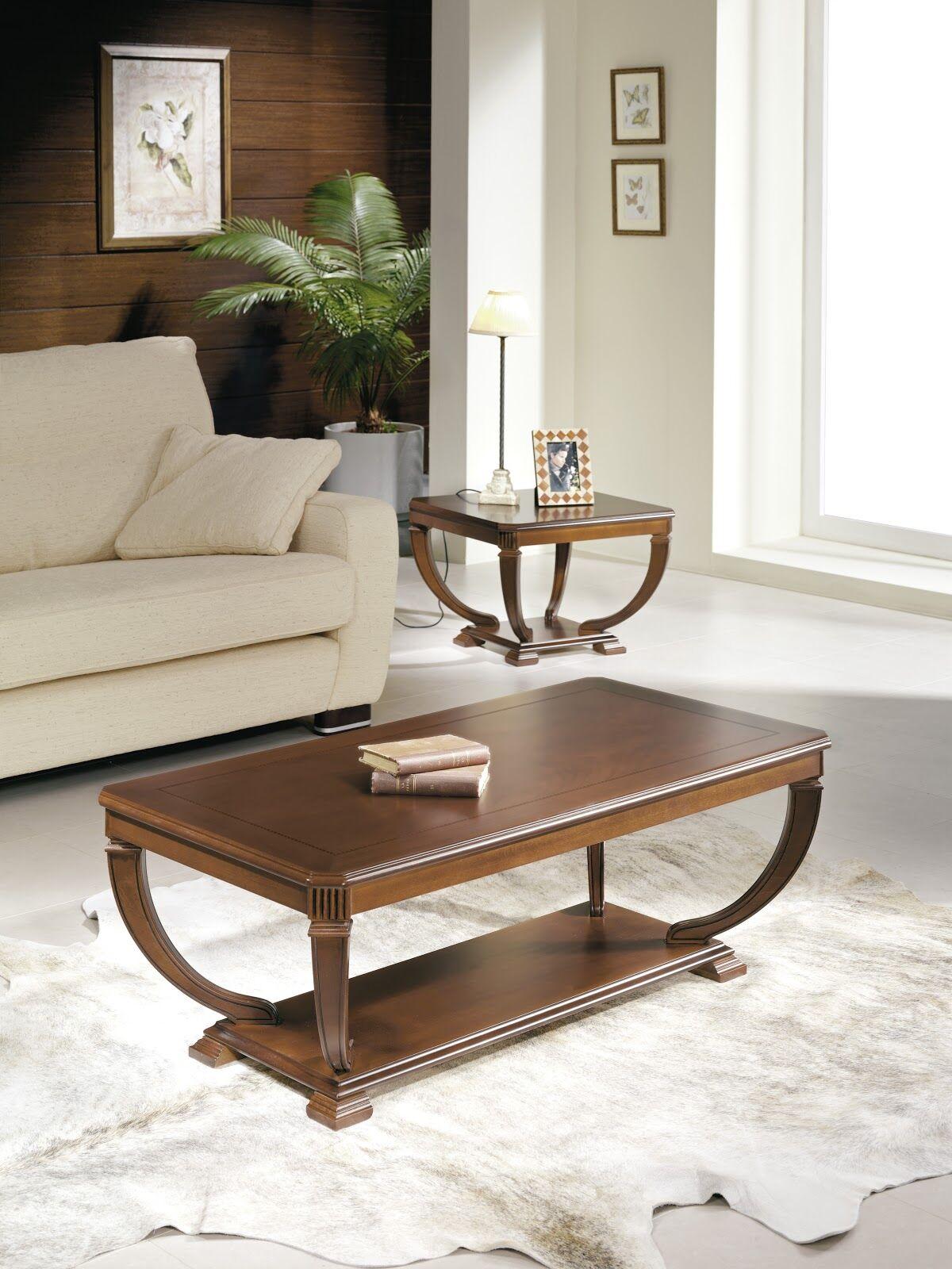Elin Wood Top Coffee Table