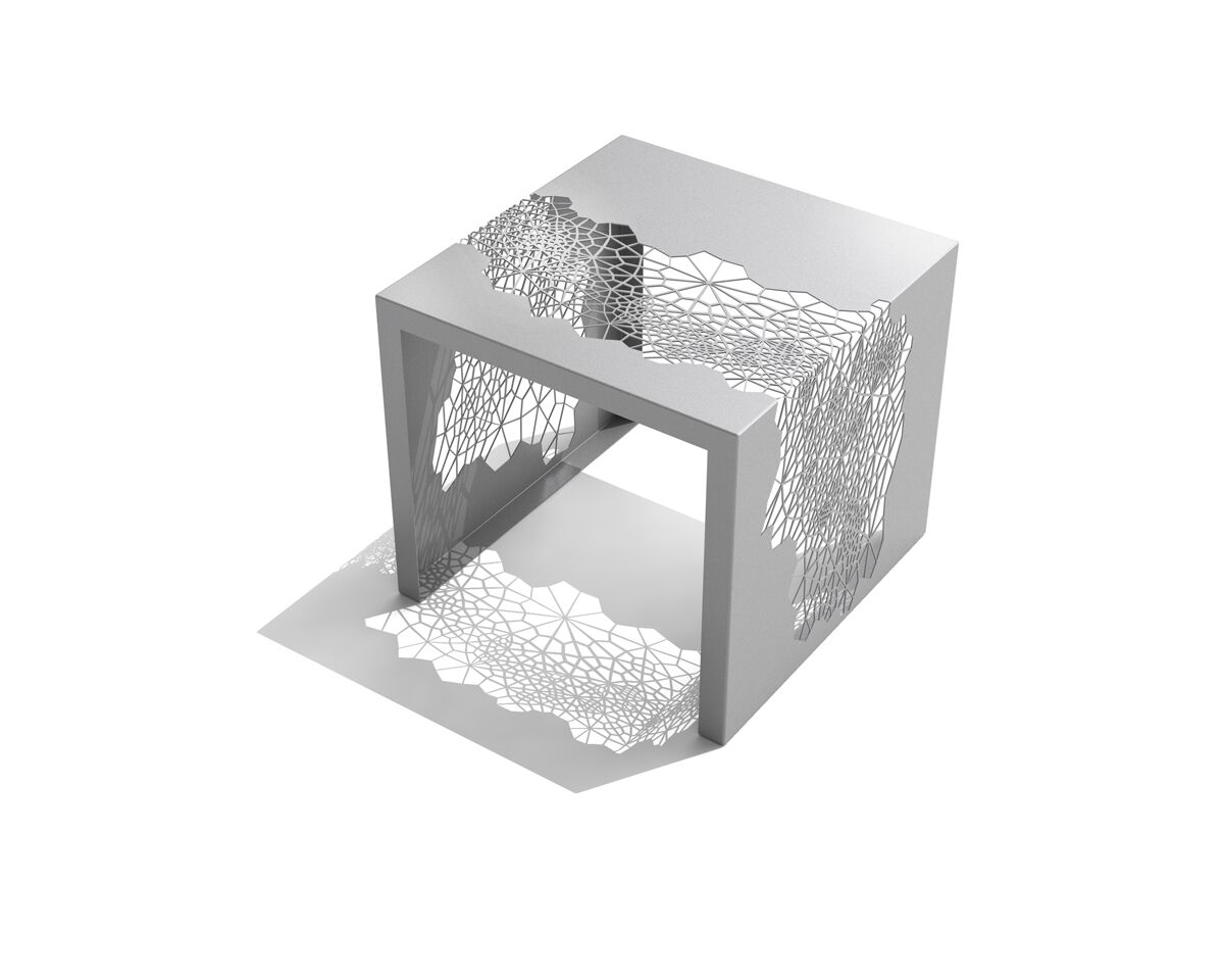 Hive End Table Color: Silver Sand