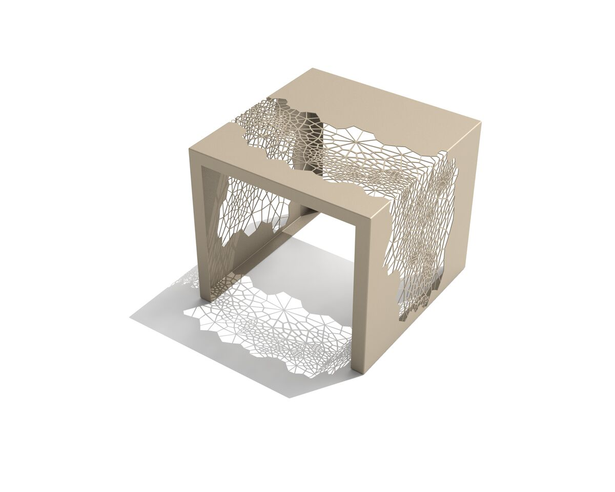 Hive End Table Color: Chilled Champagne