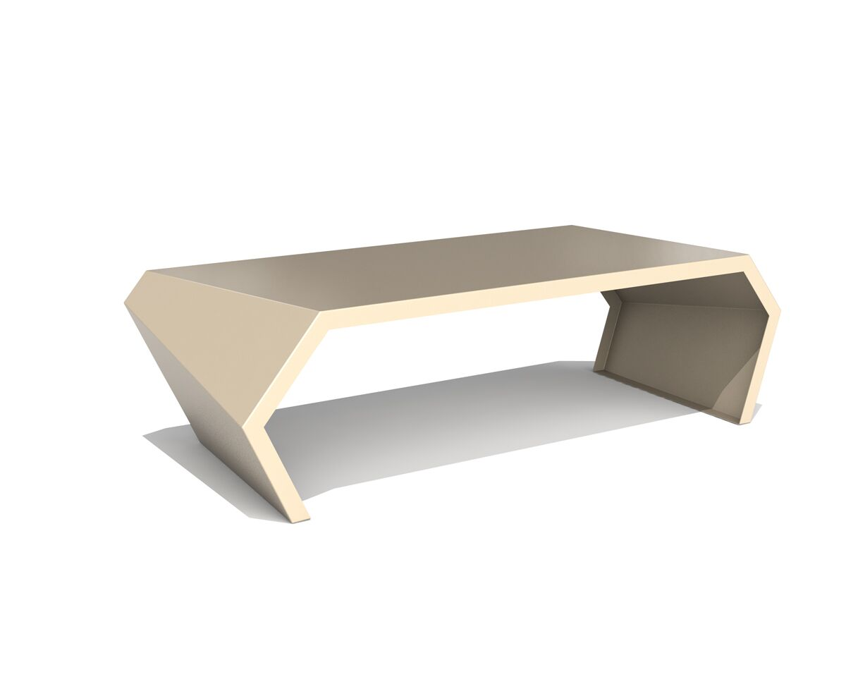 Pac Coffee Table Exterior/Interior Color: Chilled Champagne
