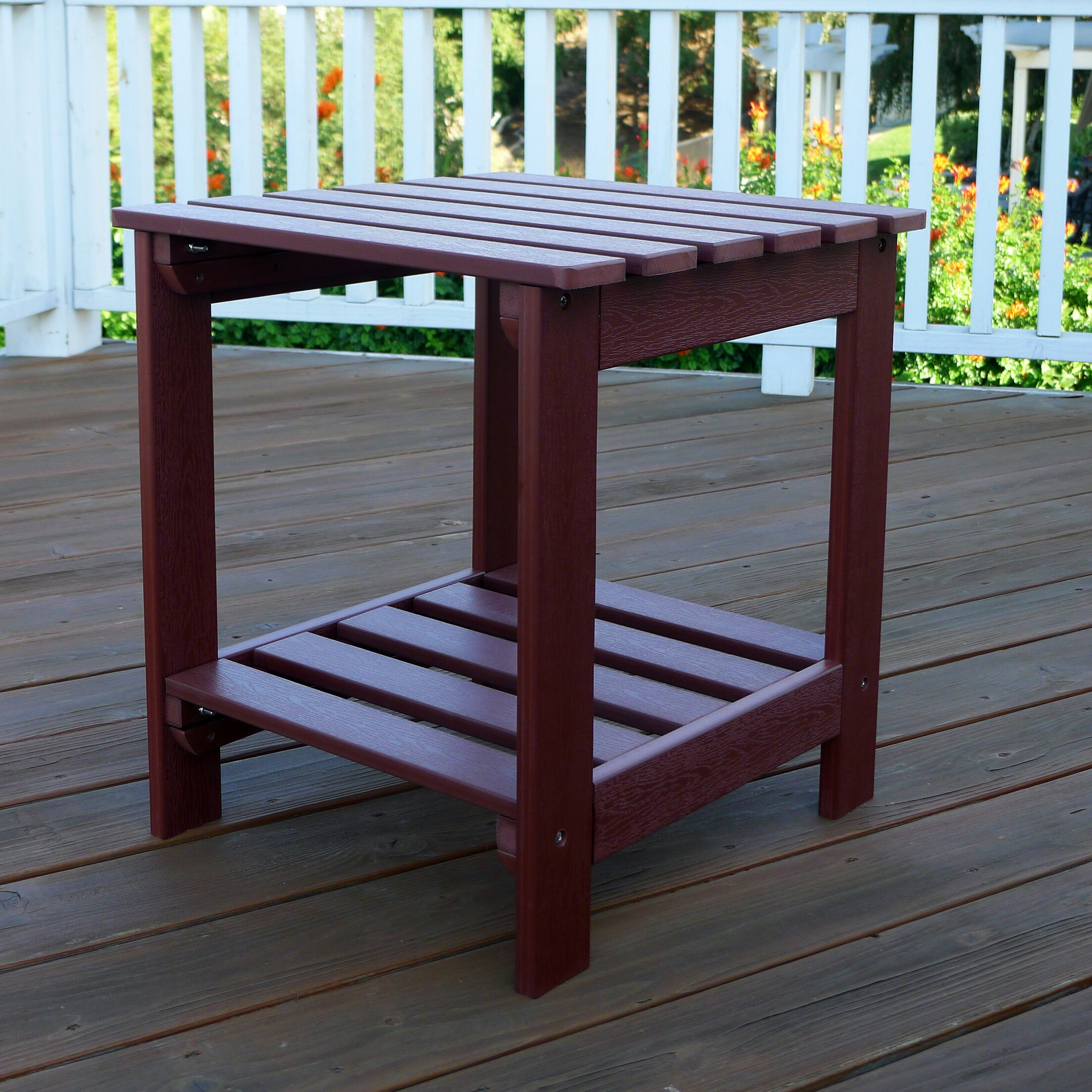 Square Side Table Finish: Mahogany