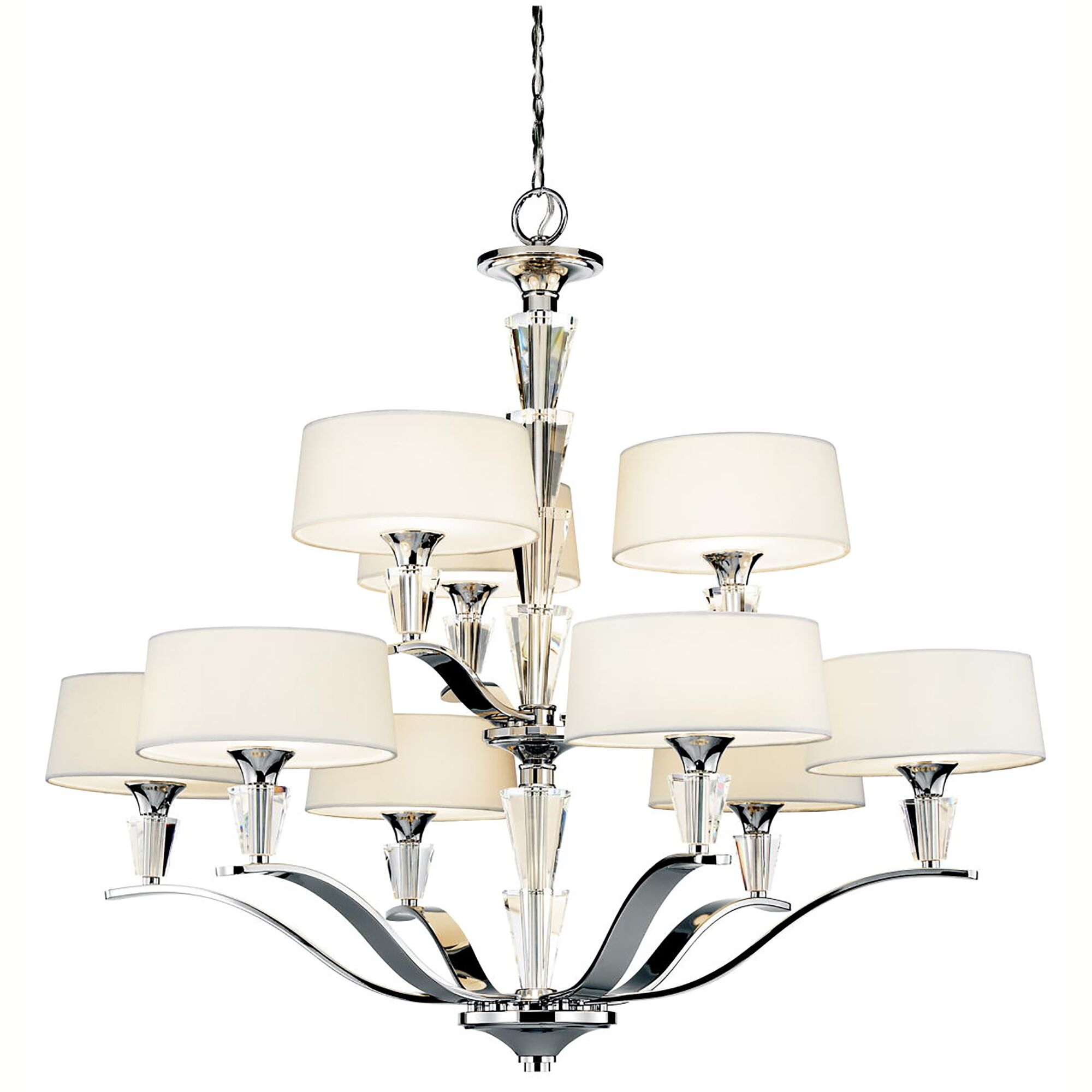Brookefields 9-Light Shaded Chandelier