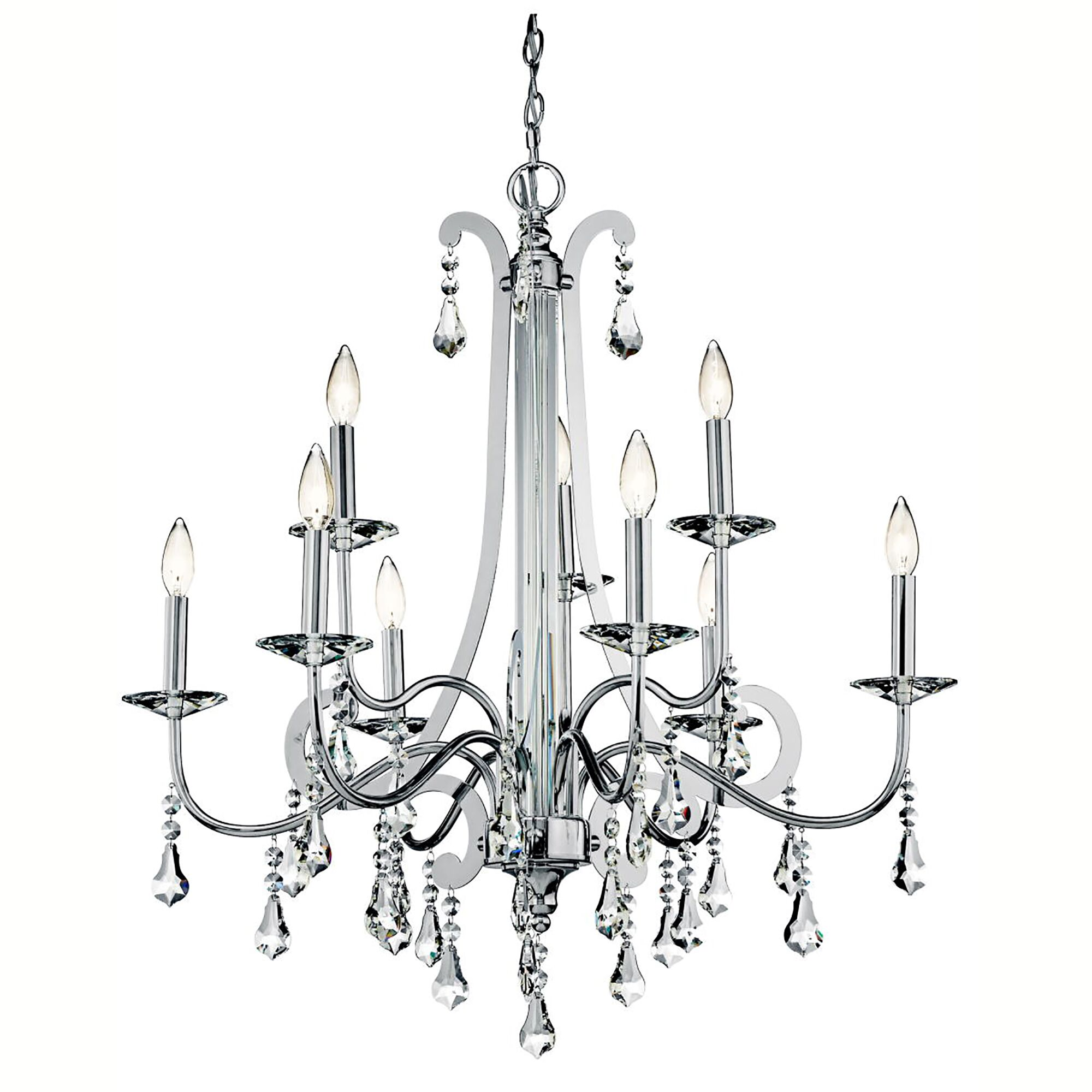 Bowmin 9-Light Candle Style Chandelier