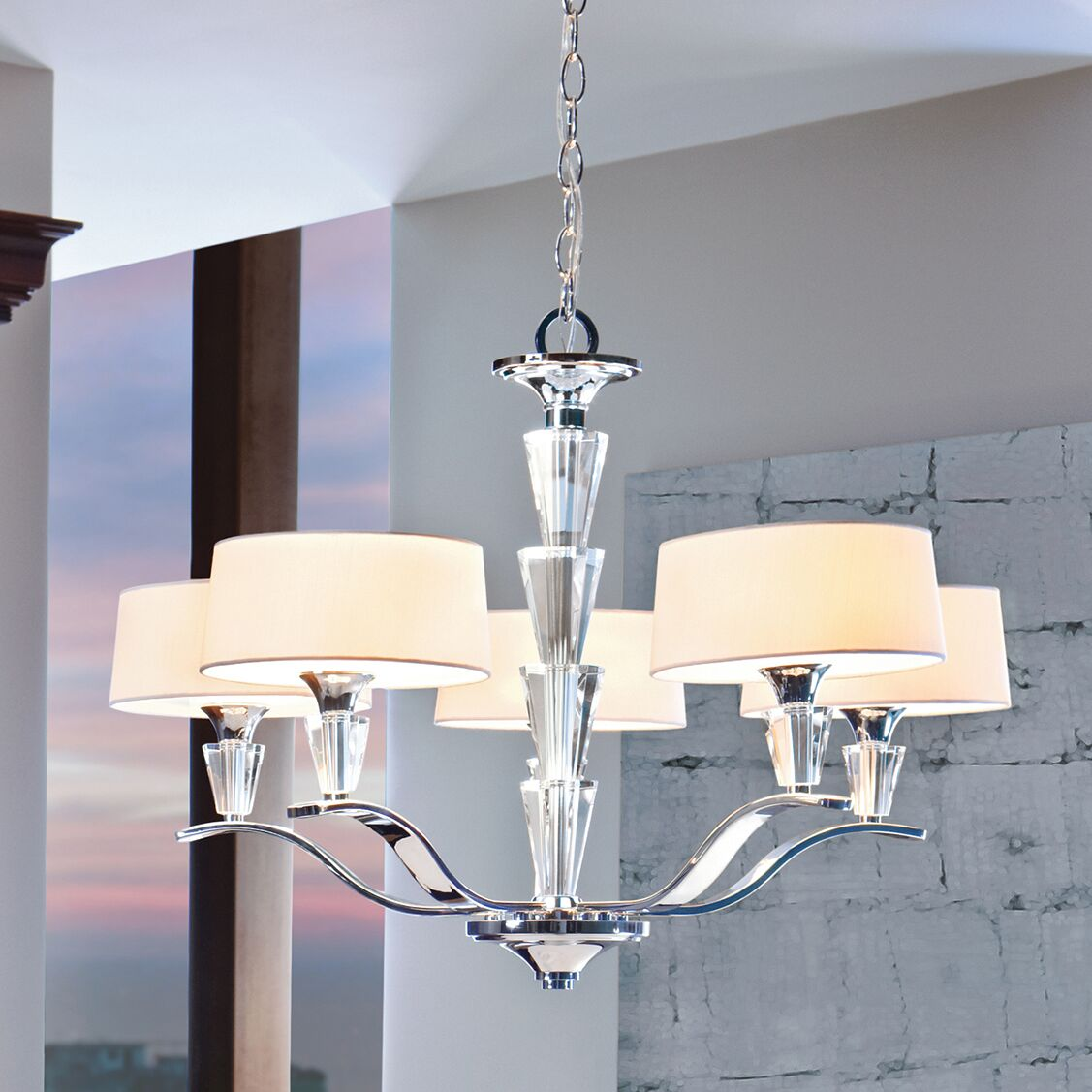 Brookefields 5-Light Shaded Chandelier