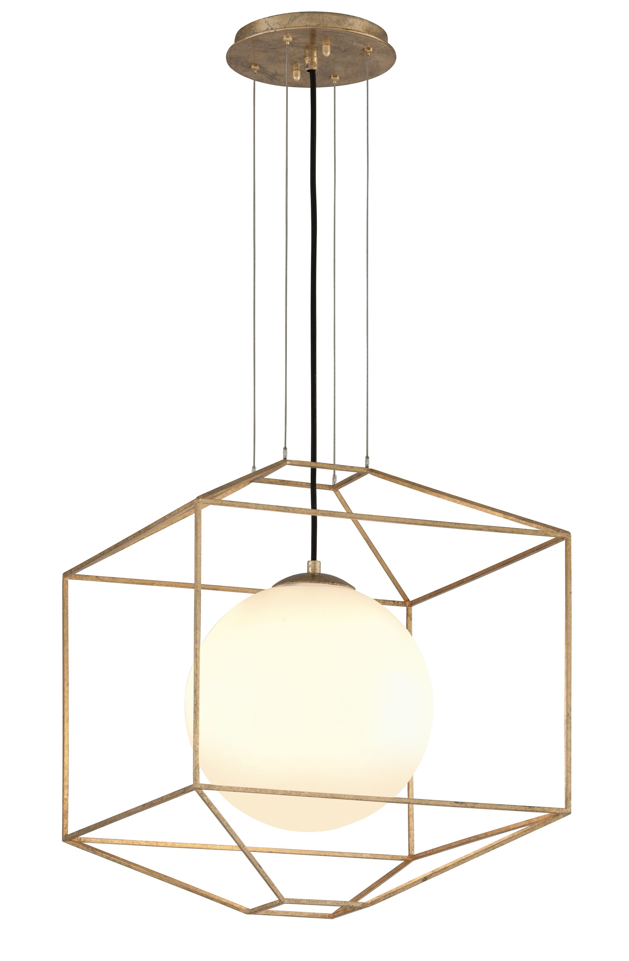 Westerberg 1-Light Geometric Pendant Finish: Gold Leaf