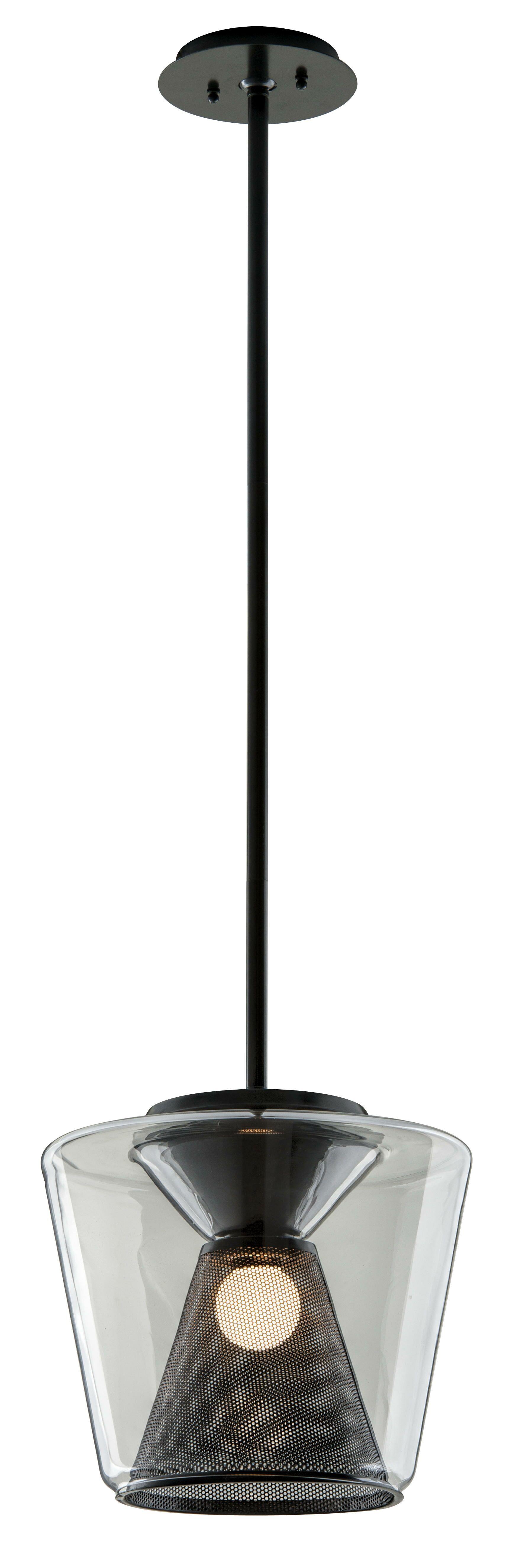 Berlin 1-Light  LED Geometric Pendant Size: 11