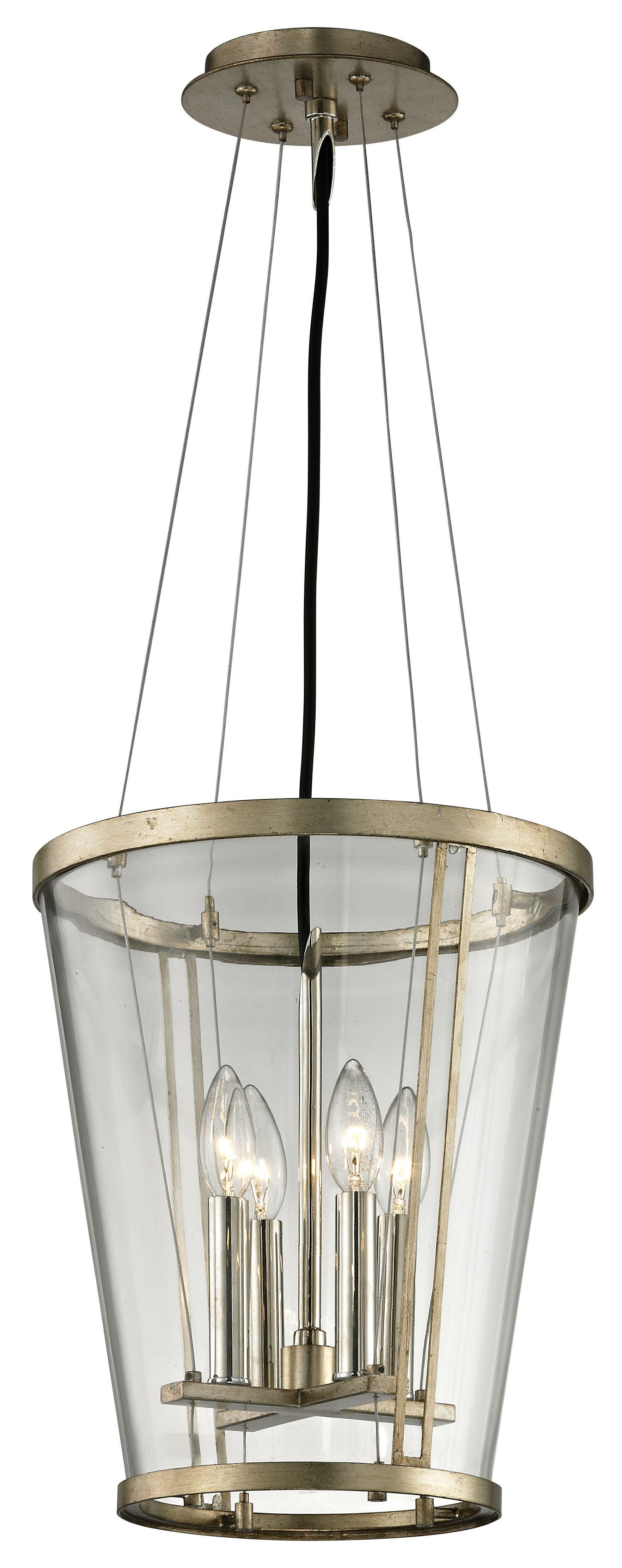 Trapeze 4-Light Foyer Pendant