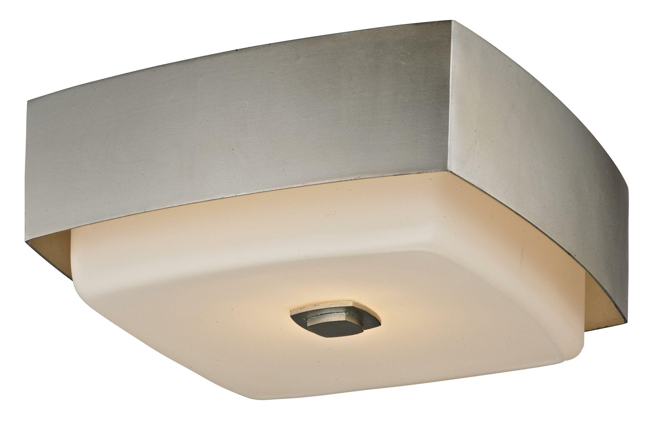 Brynie Contemporary 2-Light Flush Mount Finish: Silver Leaf