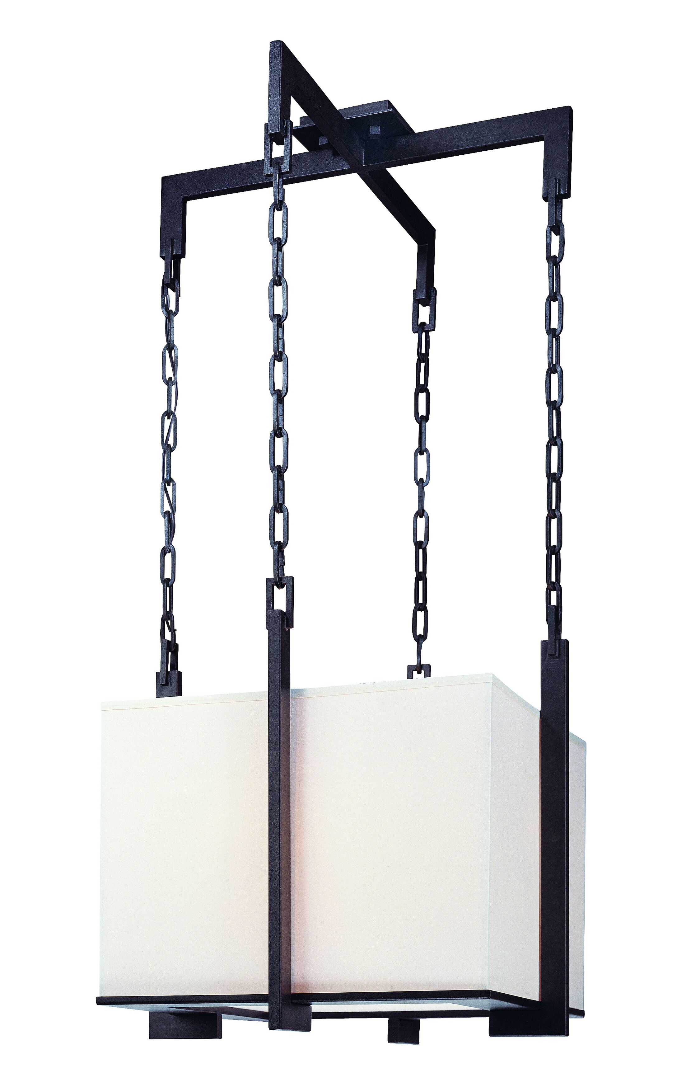 Trumbauer 3-Light Square/Rectangle Pendant Size: 14.25