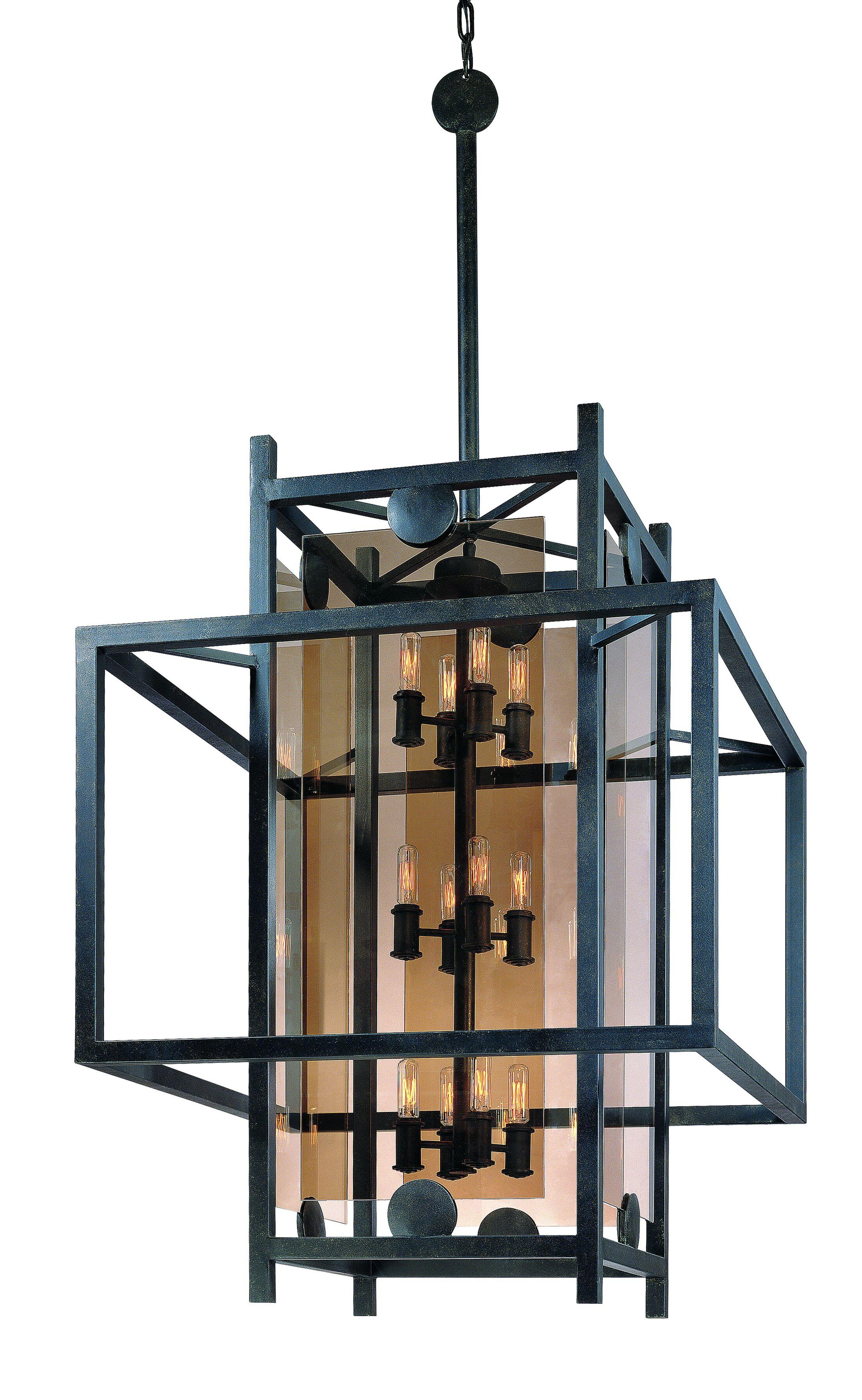 Pascal 12-Light Square/Rectangle Pendant