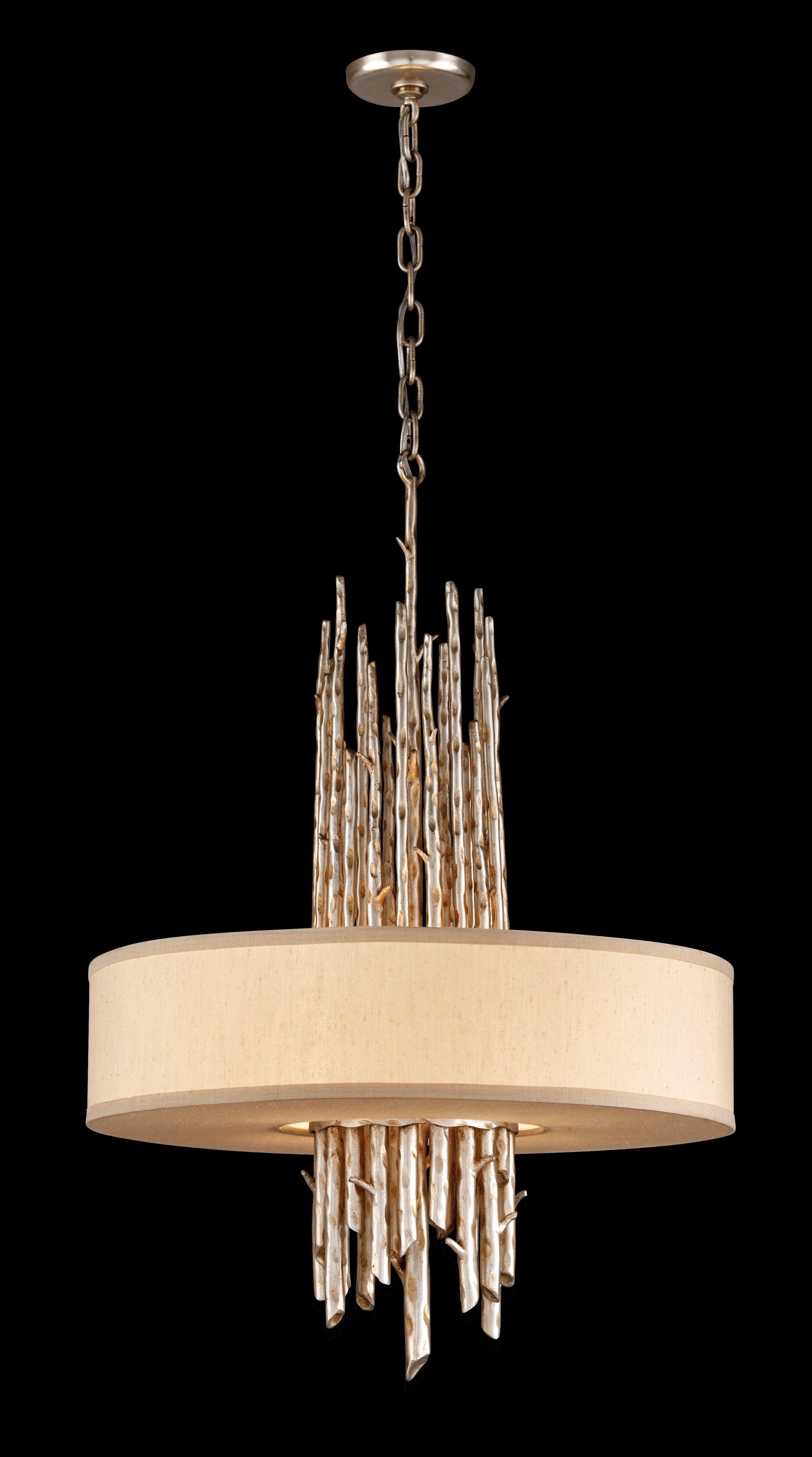 Arcola 4-Light Pendant Bulb Type: Incandescent