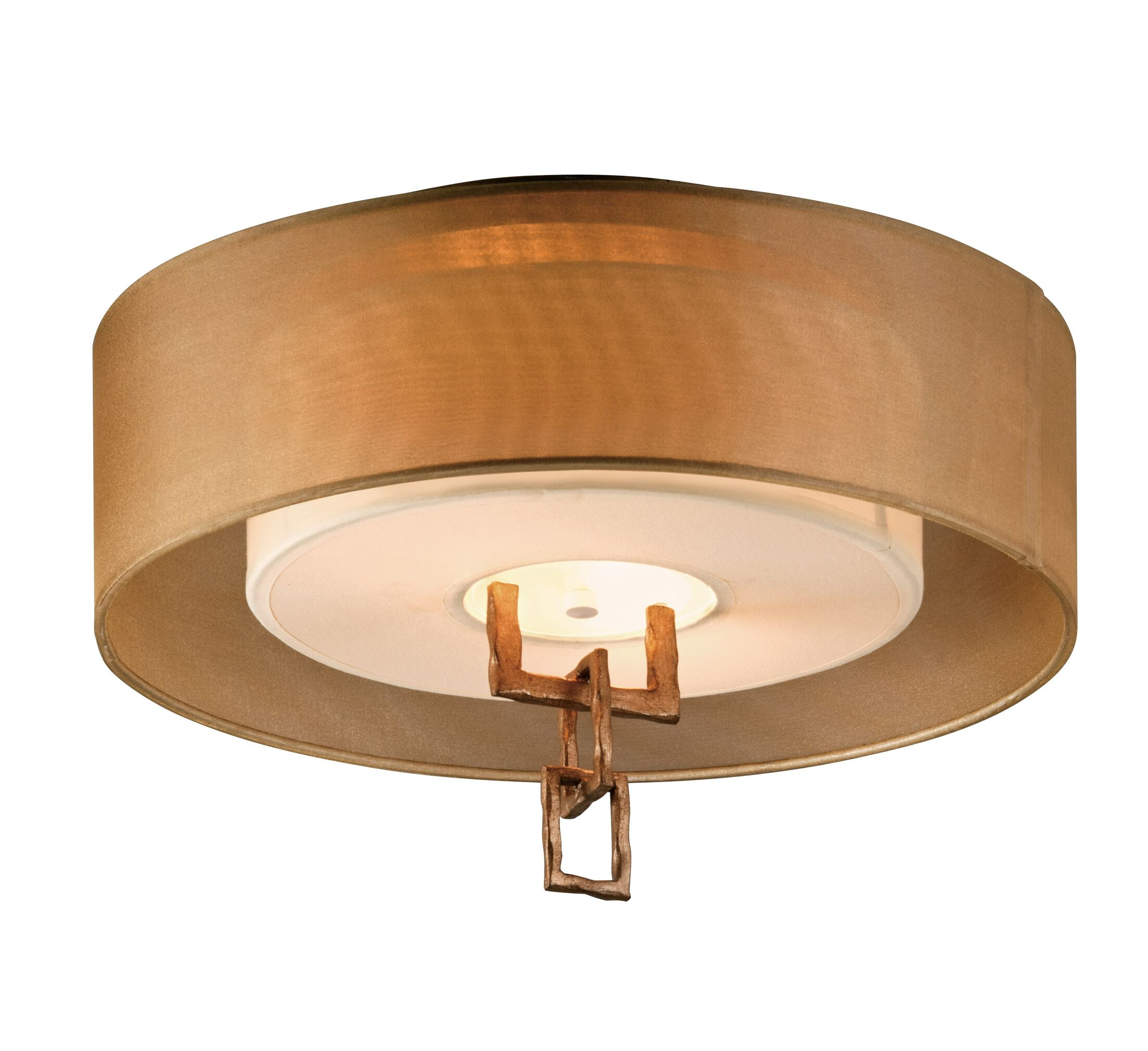 Karissa 2-Light Semi-Flush Mount Bulb Type: 13W Gu24 Fluorescent Bulb