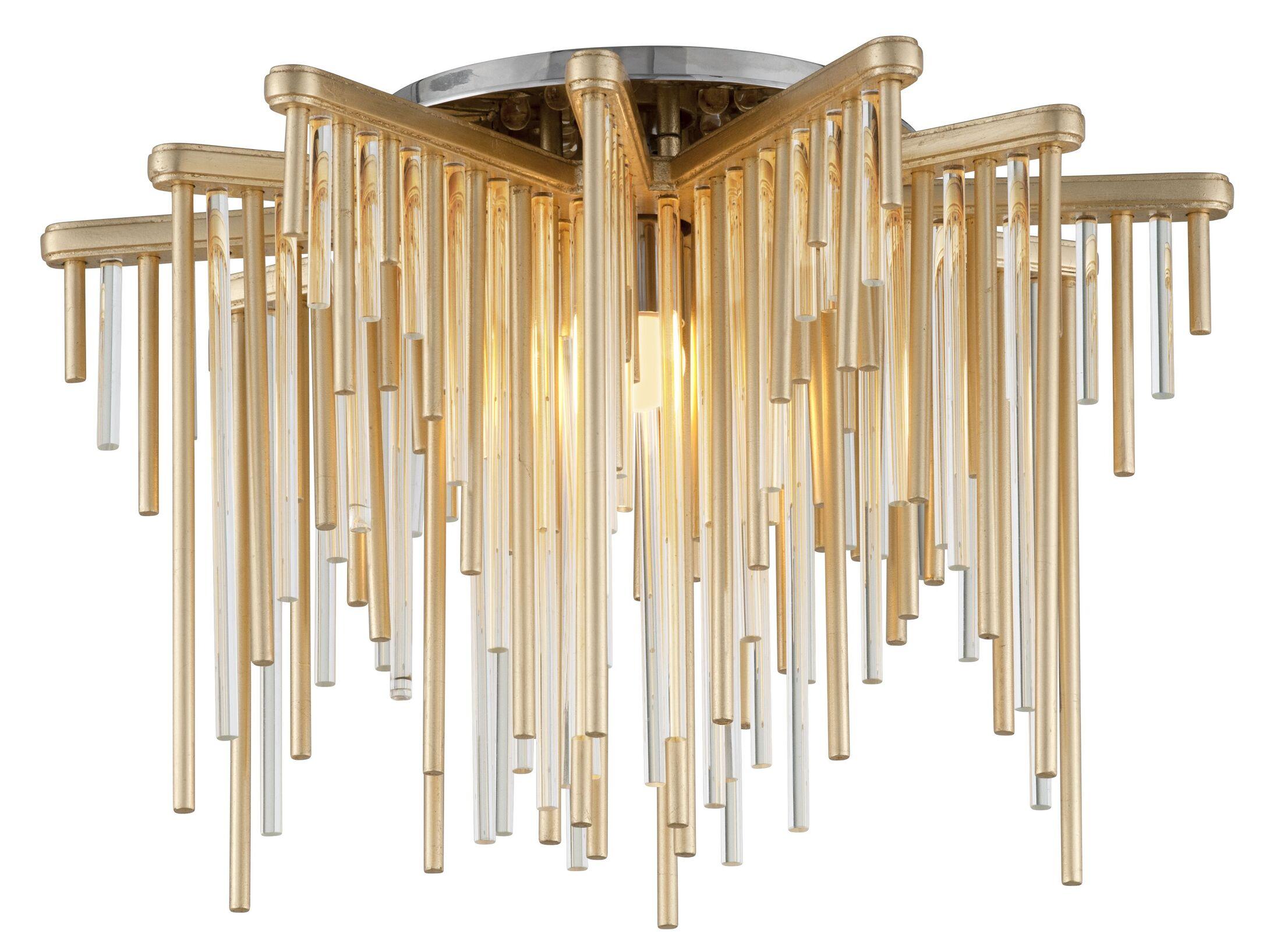 Theory 1-Light LED Semi Flush Mount