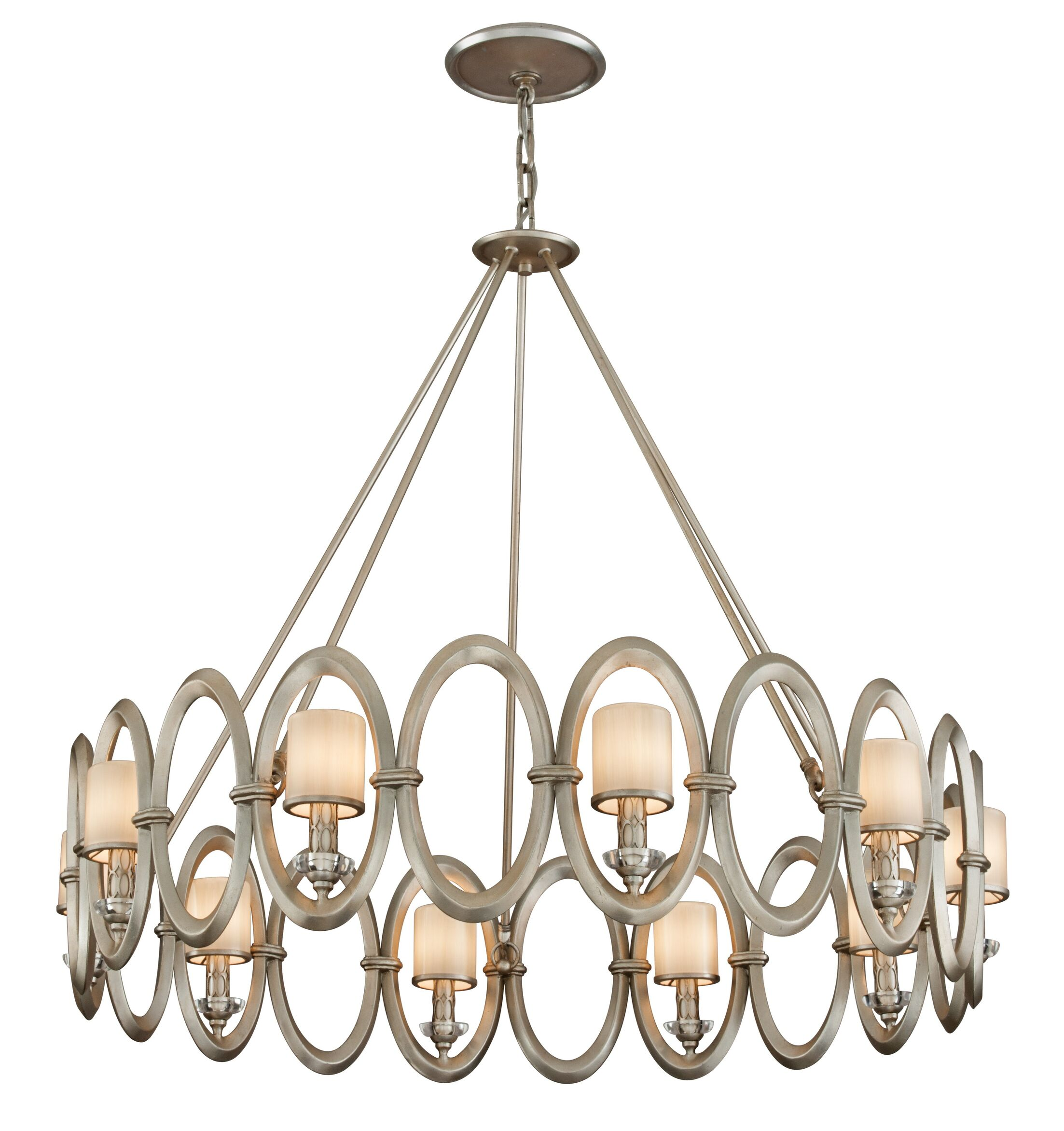 Embrace Wagon Wheel Chandelier Size: 33.75'' H x 39.5'' W x 39.5'' D