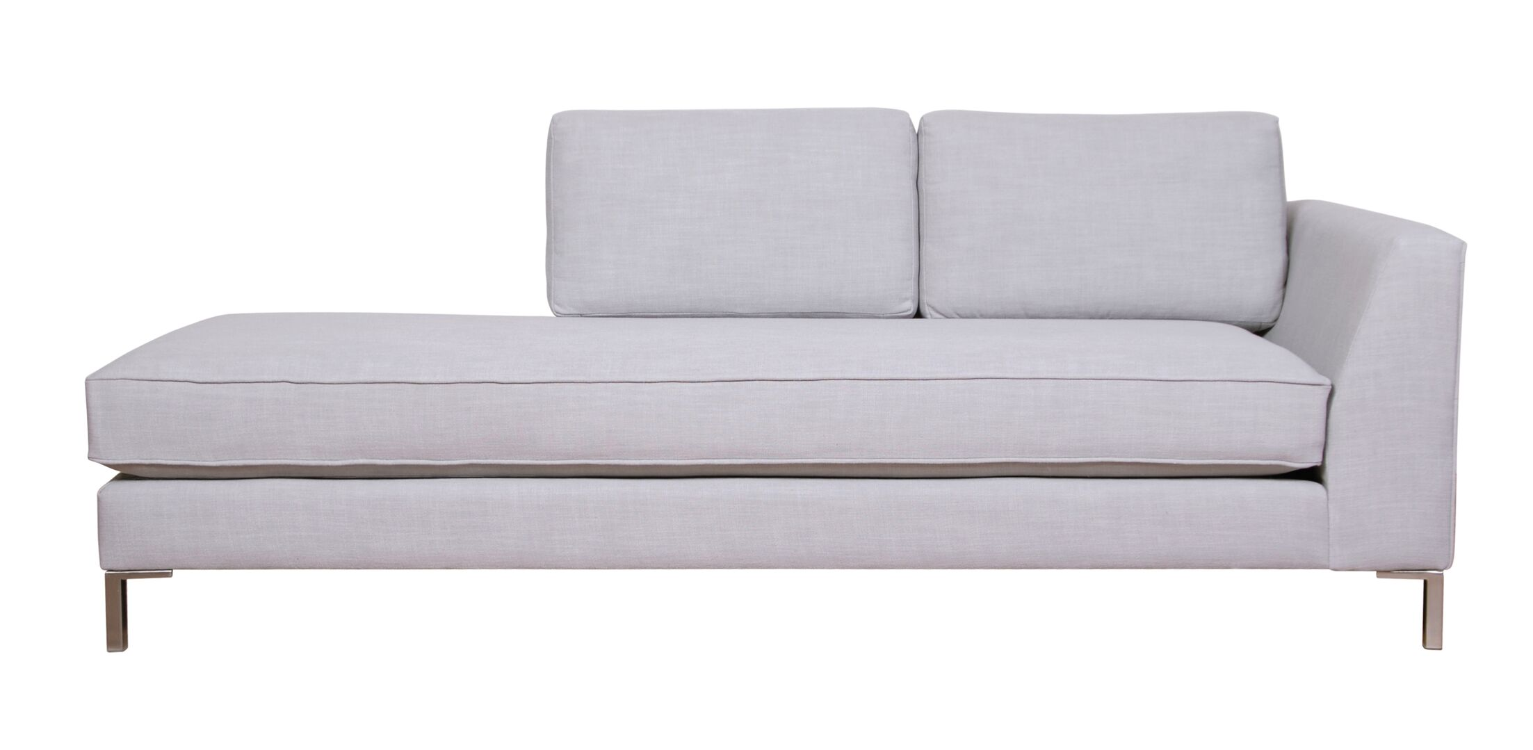 Belgium Chaise Lounge Upholstery: Brampton Gunmetal, Orientation: Left-Hand Facing