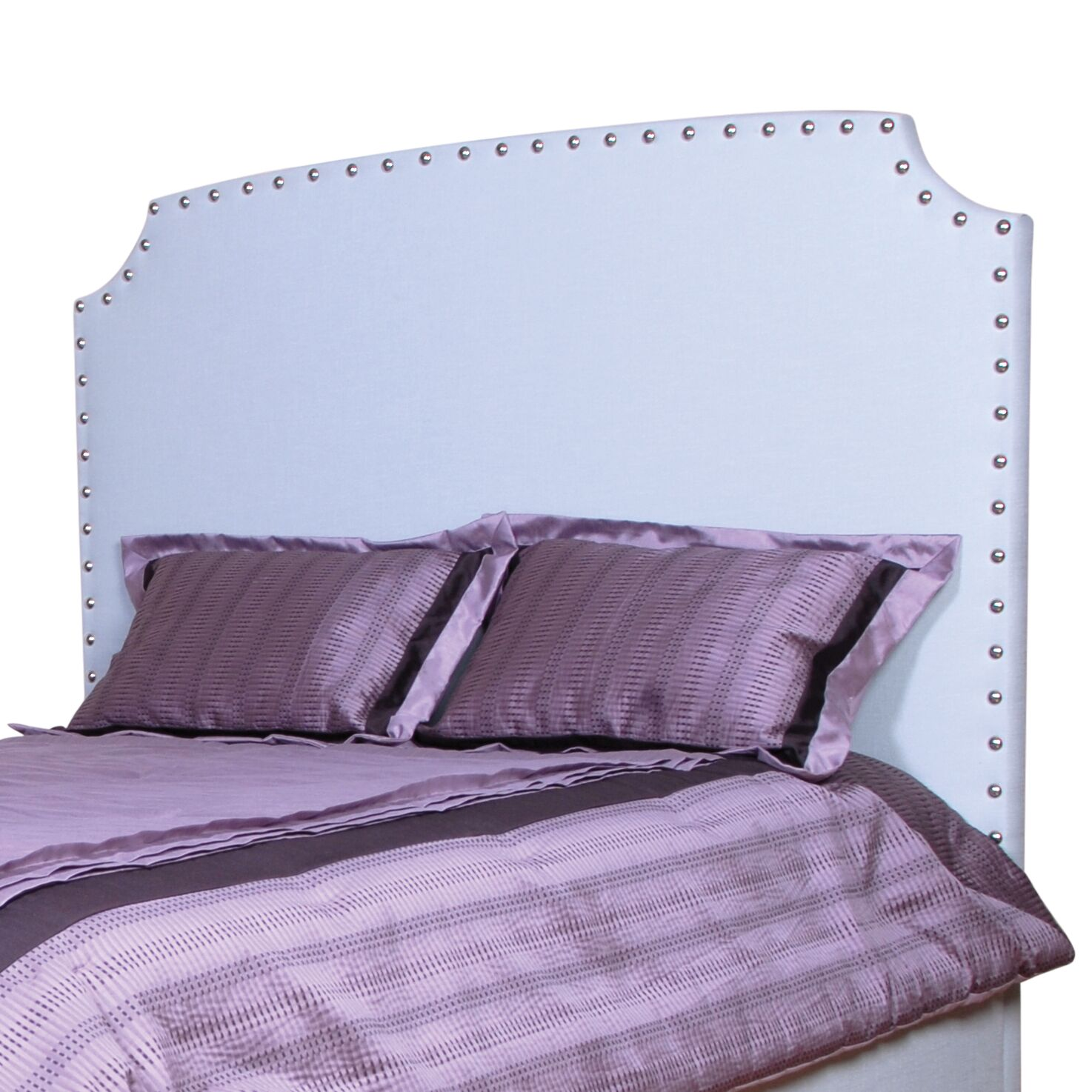 Melrose Upholstered Panel Headboard Size: Double