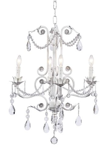 Valentino 4-Light Candle Style Chandelier Finish: White