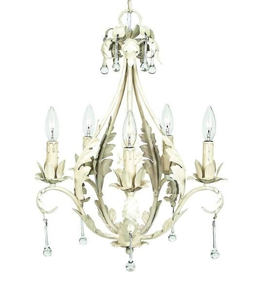 Caesar 5-Light Candle Style Chandelier Shade: White with Pink Flowers, Finish: White