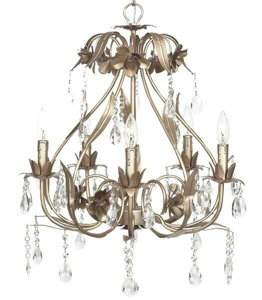 Ballroom 5-Light Candle Style Chandelier Finish: Warm Silver