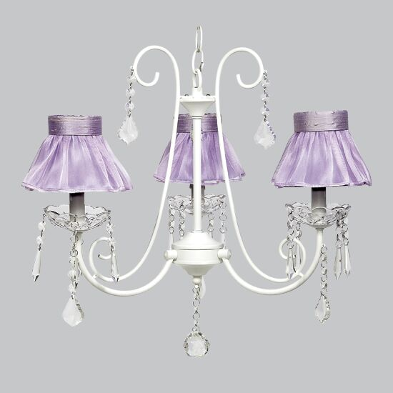 Bliss 3-Light Shaded Chandelier Shade Color: Lavender