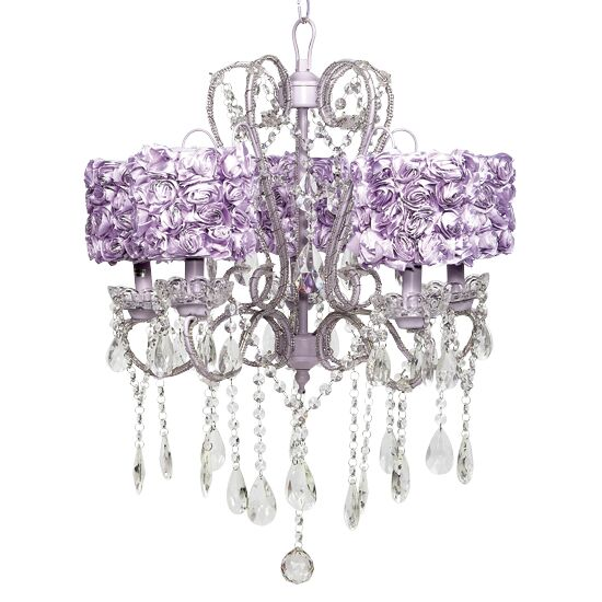 Whimsical 5-Light Shaded Chandelier Shade Color: Lavender