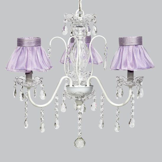Jewel 3-Light Shaded Chandelier Shade Color: Lavender