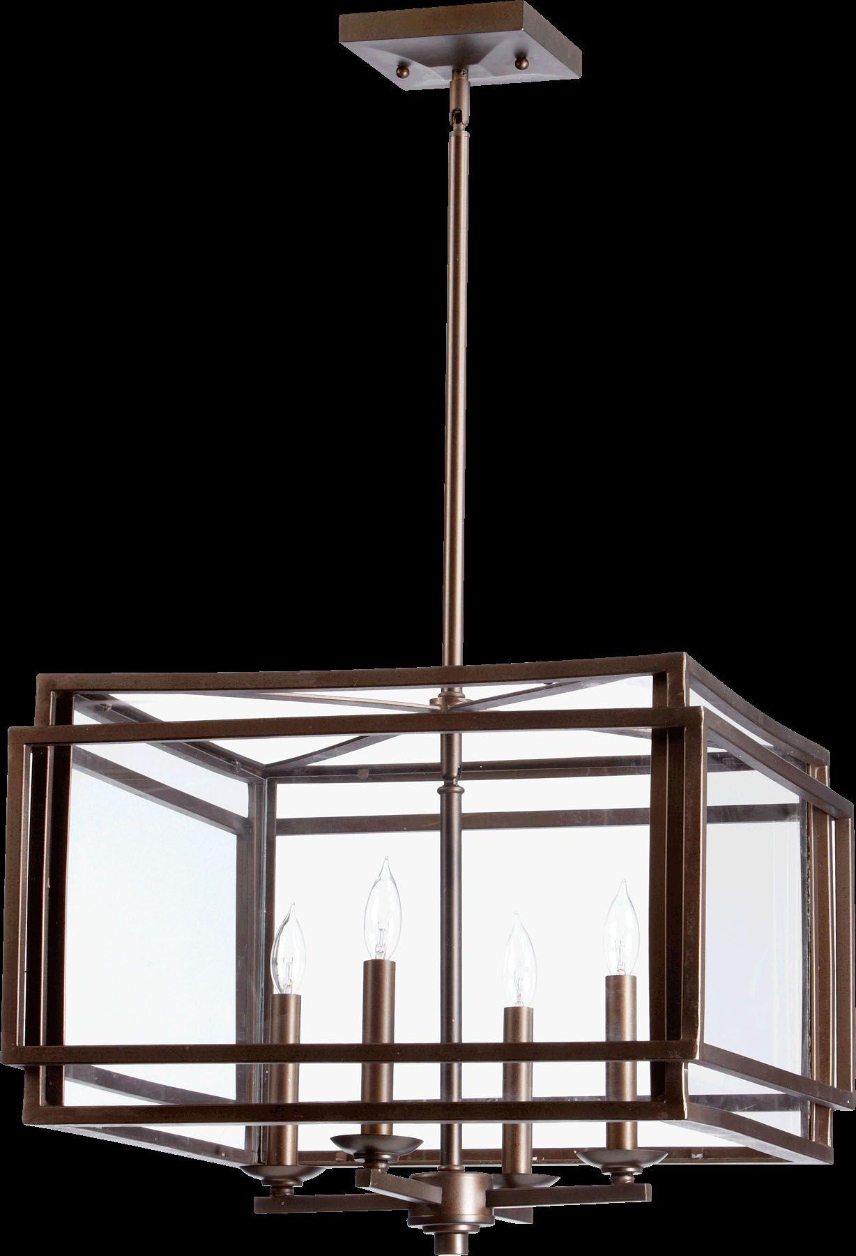 Politte 4-Light Square/Rectangle Chandelier