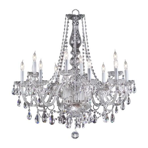 Evgenia 12-Light Candle Style Chandelier Color: Imperial Crystal