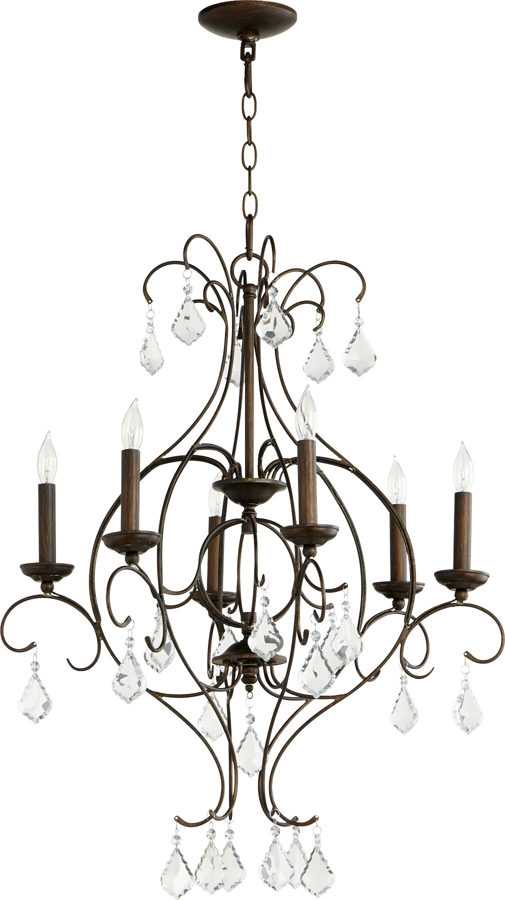 Ariel 6-Light Chandelier Finish: Vintage Copper