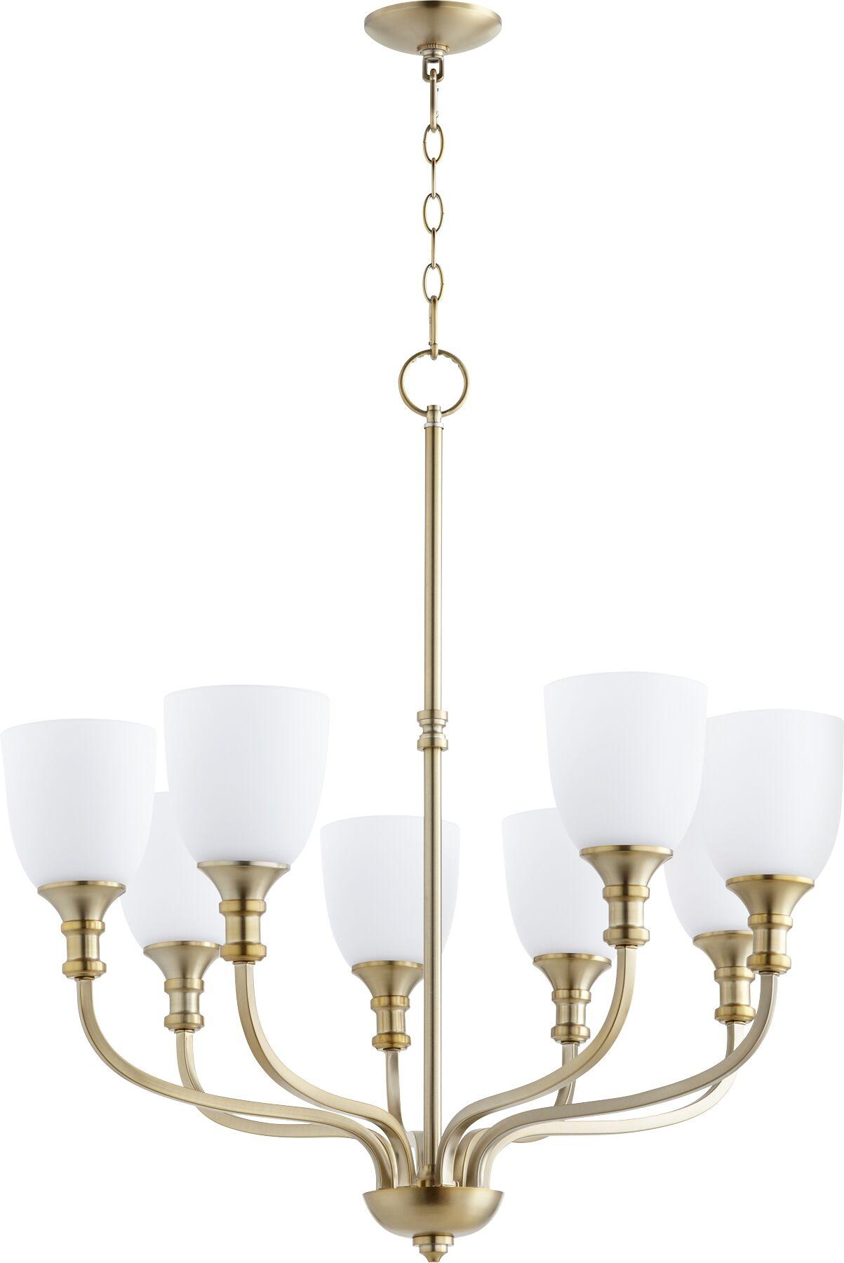 Falbo 8-Light Shaded Chandelier Finish: Aged Brass