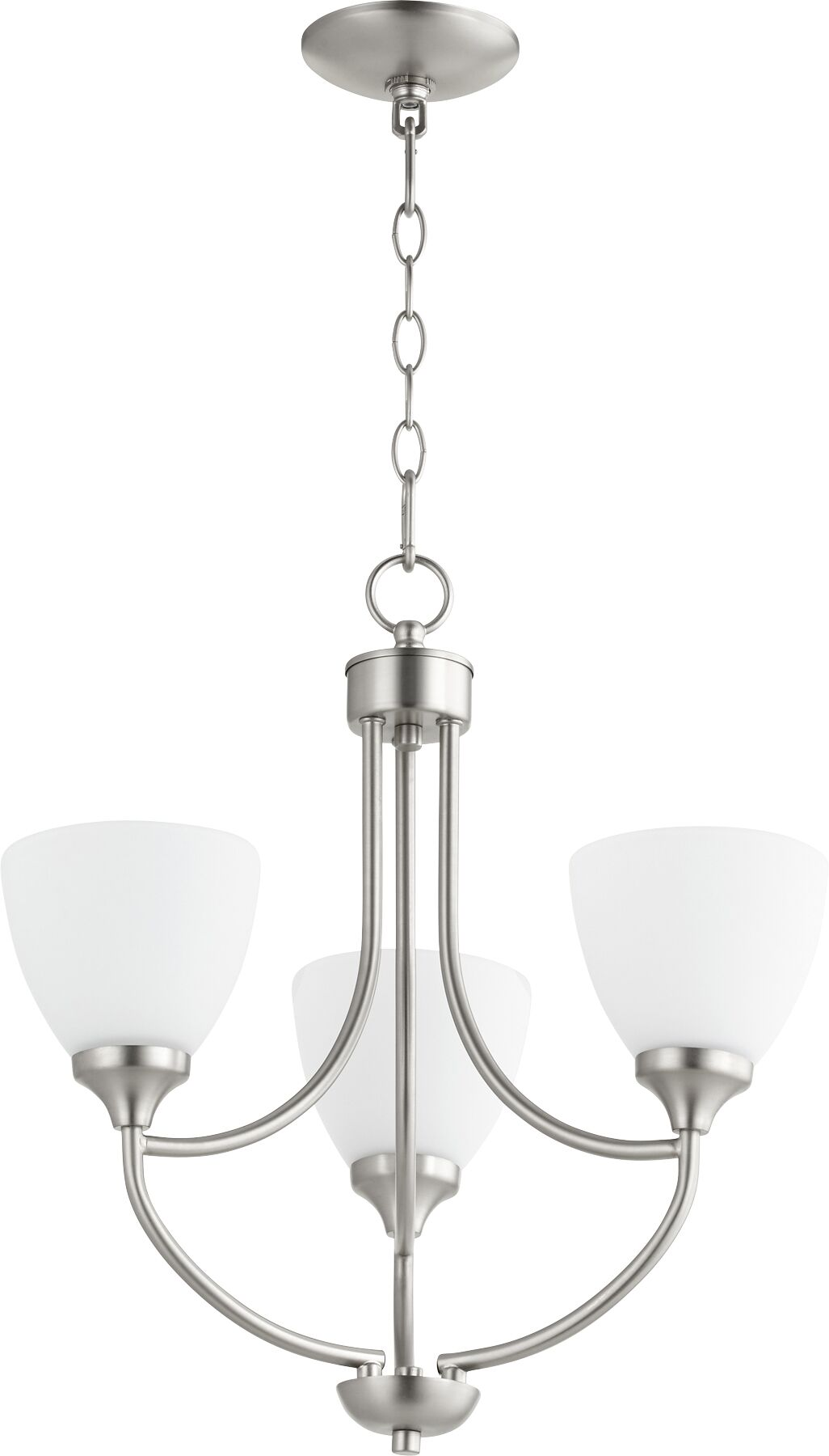 Enclave 3-Light Shaded Chandelier Finish: Satin Nickel