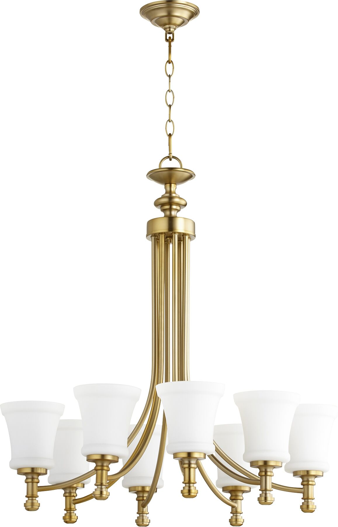 Rossington 8-Light Shaded Chandelier Finish: Aged Brass