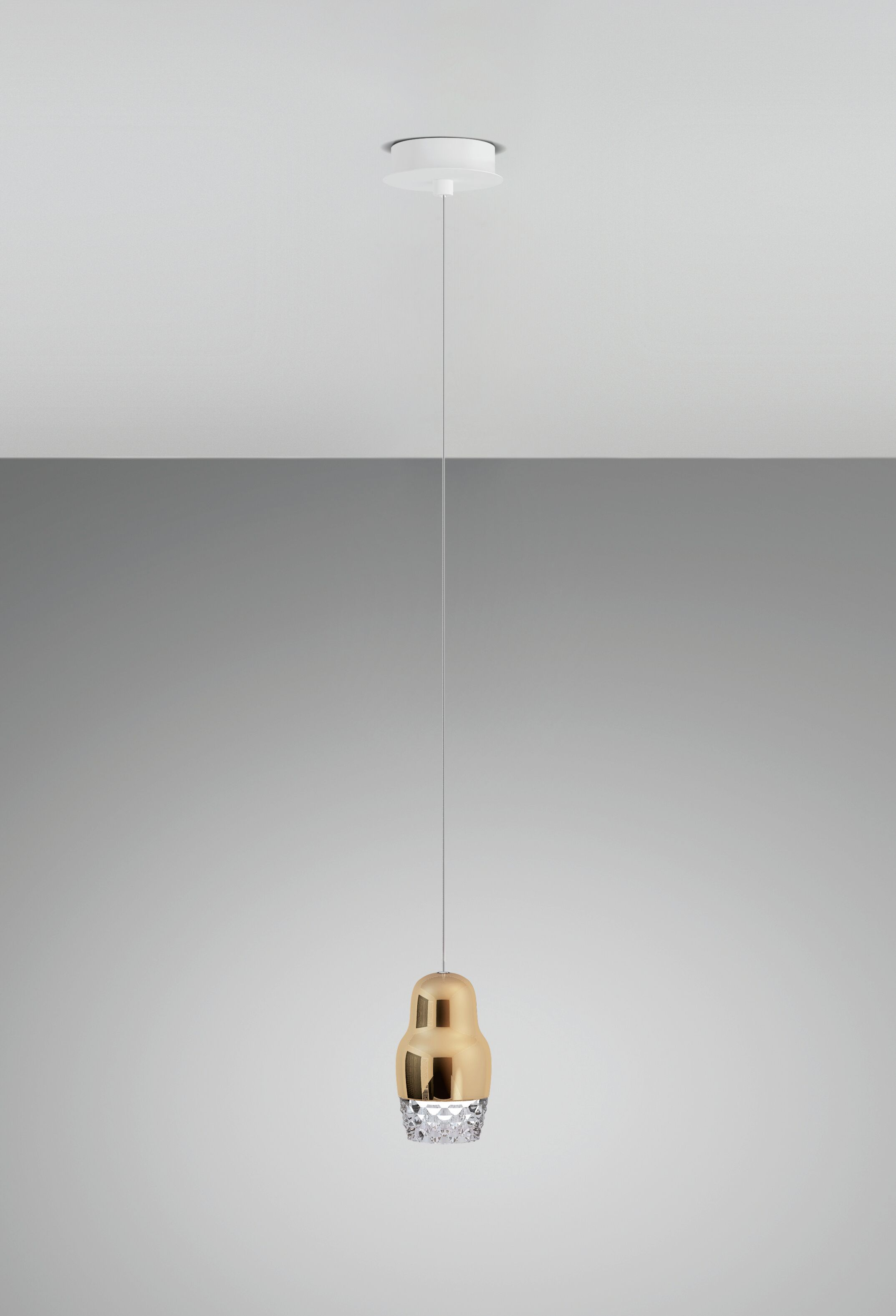 Fedora 1-Light Novelty Pendant Shade Color: Rose Gold