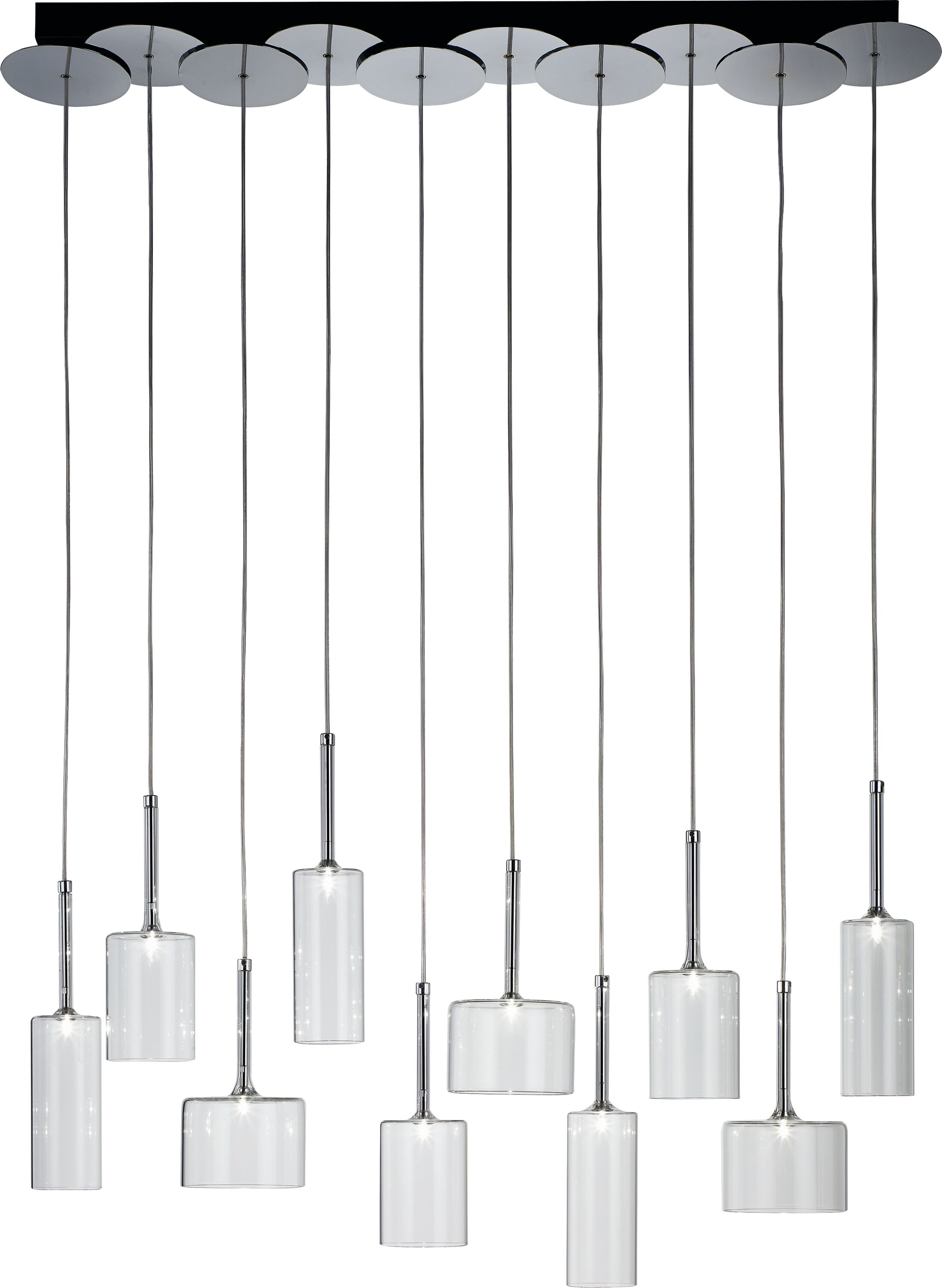 Spillray 10-Light Pendant Color: Red