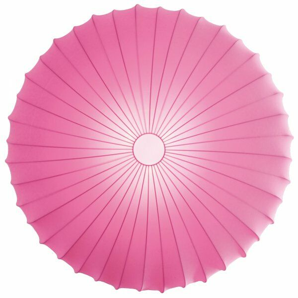 Muse 3-Light Flush Mount Size: Extra Large, Color: Pink, Bulb Type: Fluorescent/Incandescent