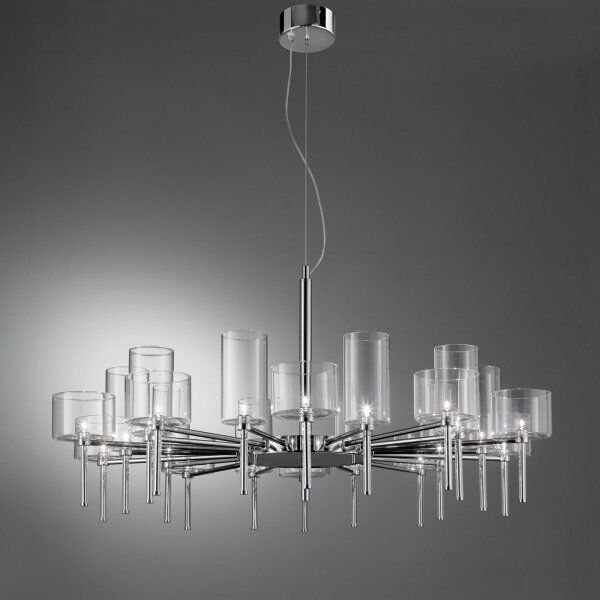 Spillray 20-Light Shaded Chandelier Shade Color: Red