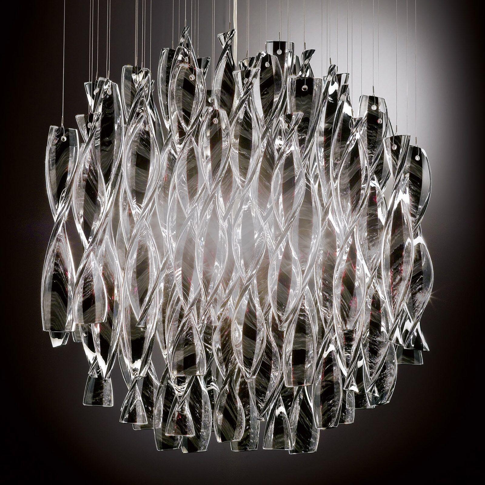 Avir 1-Light Crystal Pendant Color/Color/Size: Polished Steel/Tea/Small