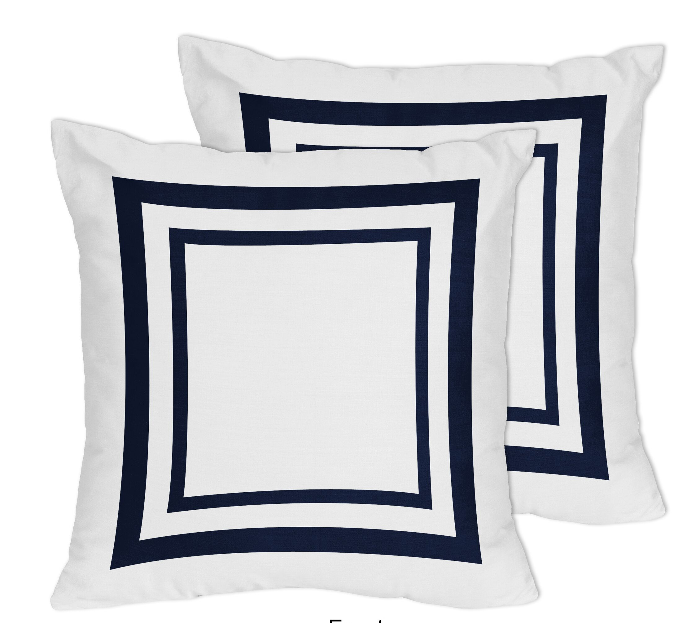 Anchors Away Decorative Accent Cotton Throw Pillow