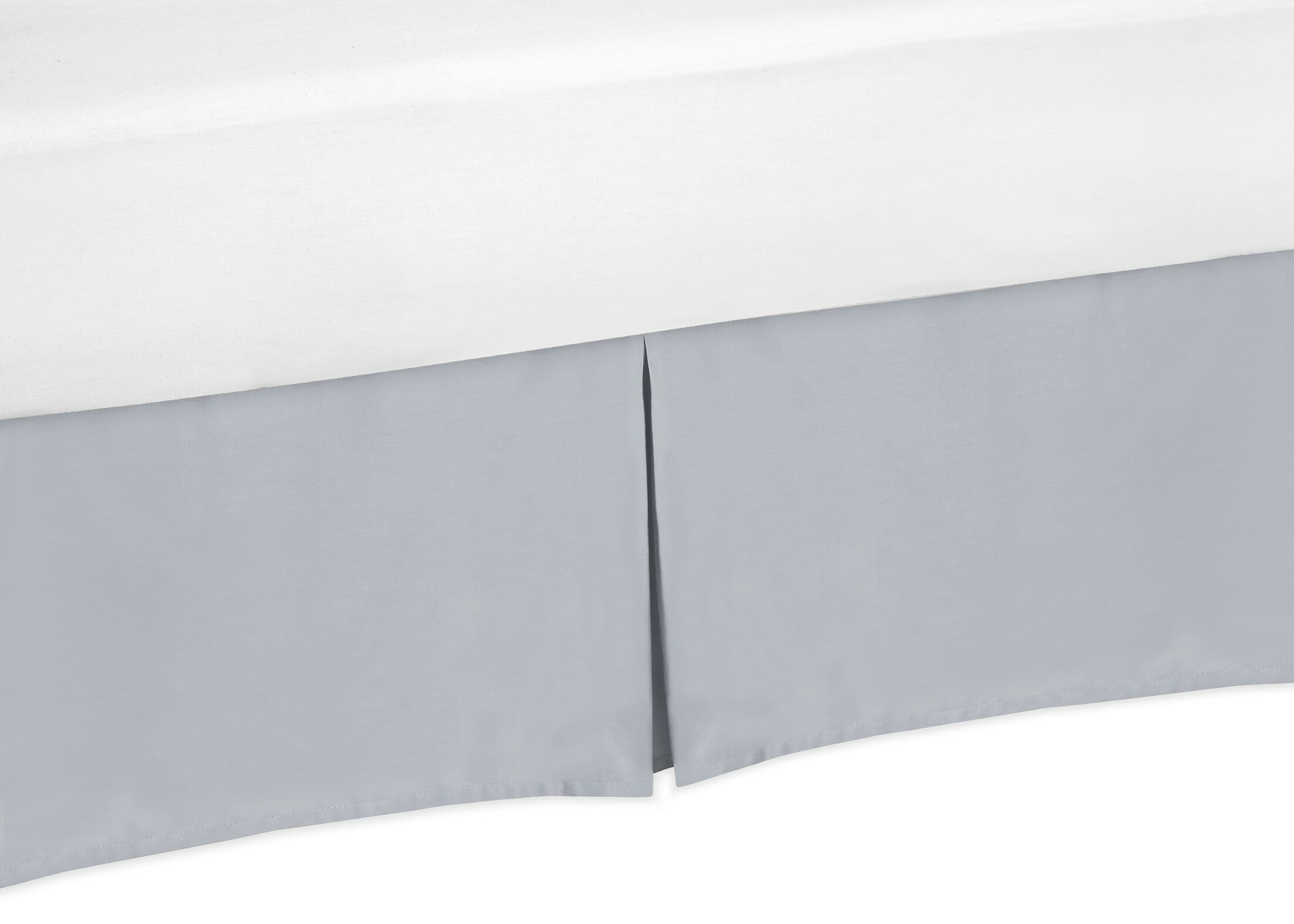 Chevron Bed Skirt Size: Queen, Color: Gray