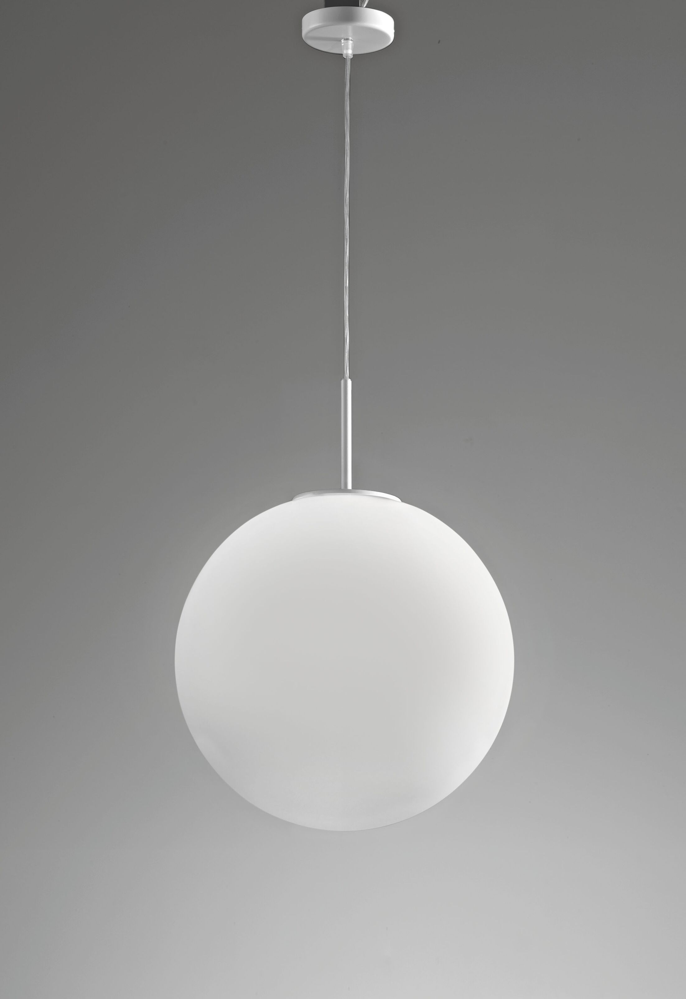 Sferis Suspension 1-Light Mini Pendant Finish: White, Size: 11.7