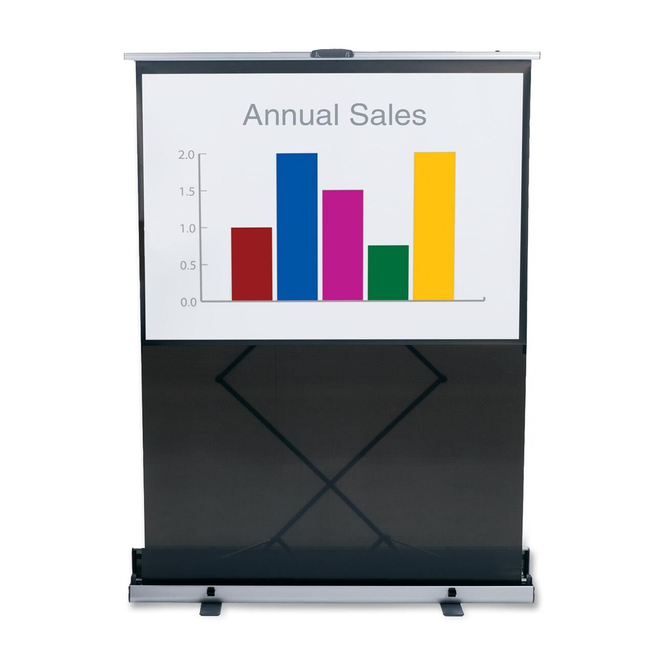 Black Portable Projection Screen Size: 80