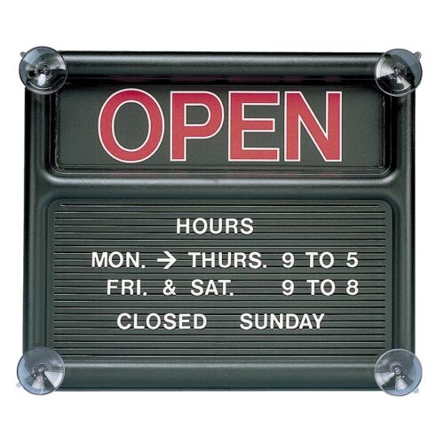 Open/Closed Sign, 318 Characters for Custom Msgs, 14
