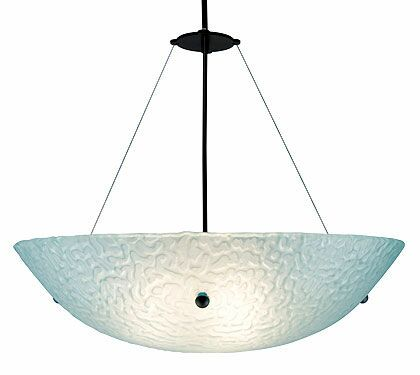 3-Light Bowl Pendant Glass Color: Phantom Frost, Drop: 43