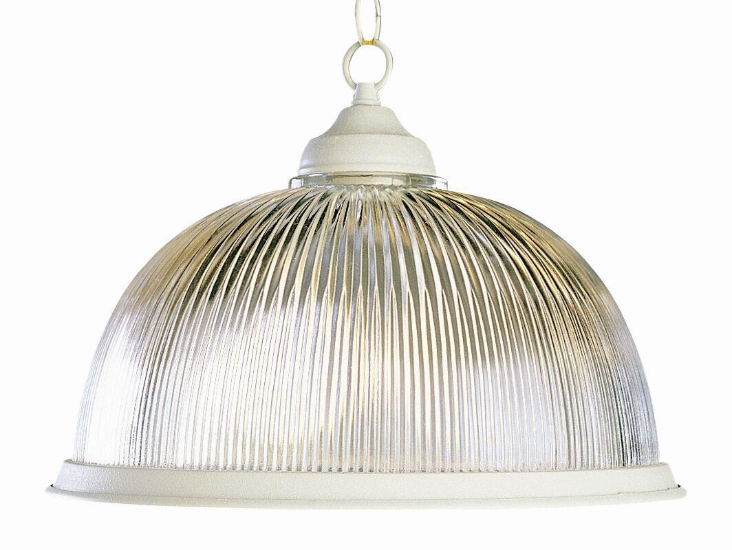 Back To Basics 1-Light Dome Pendant Finish: Antique White
